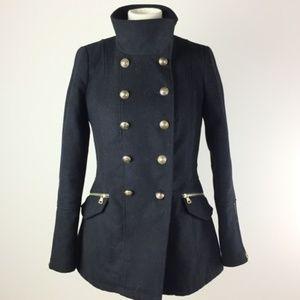 Zara trafaluc outwear division jacket coat black